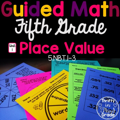 small resolution of 5th Grade Guided Math -Unit 1 Place Value - Thrifty in Third Grade