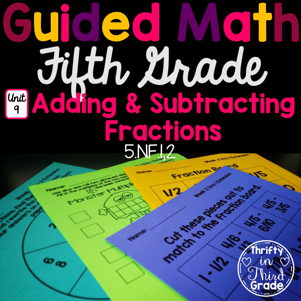 5th Grade Guided Math Unit 9 Adding And Subtracting