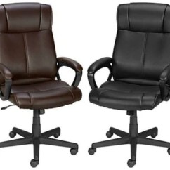 Staples Turcotte Chair Brown Ikea Covers Aron High Back Office For 49 99 Free Shipping Thrifty I M Currently Sitting In A Less Than Comfortable It Looked Great The Store But Cushioning And Padding Wore Down Very Quickly One