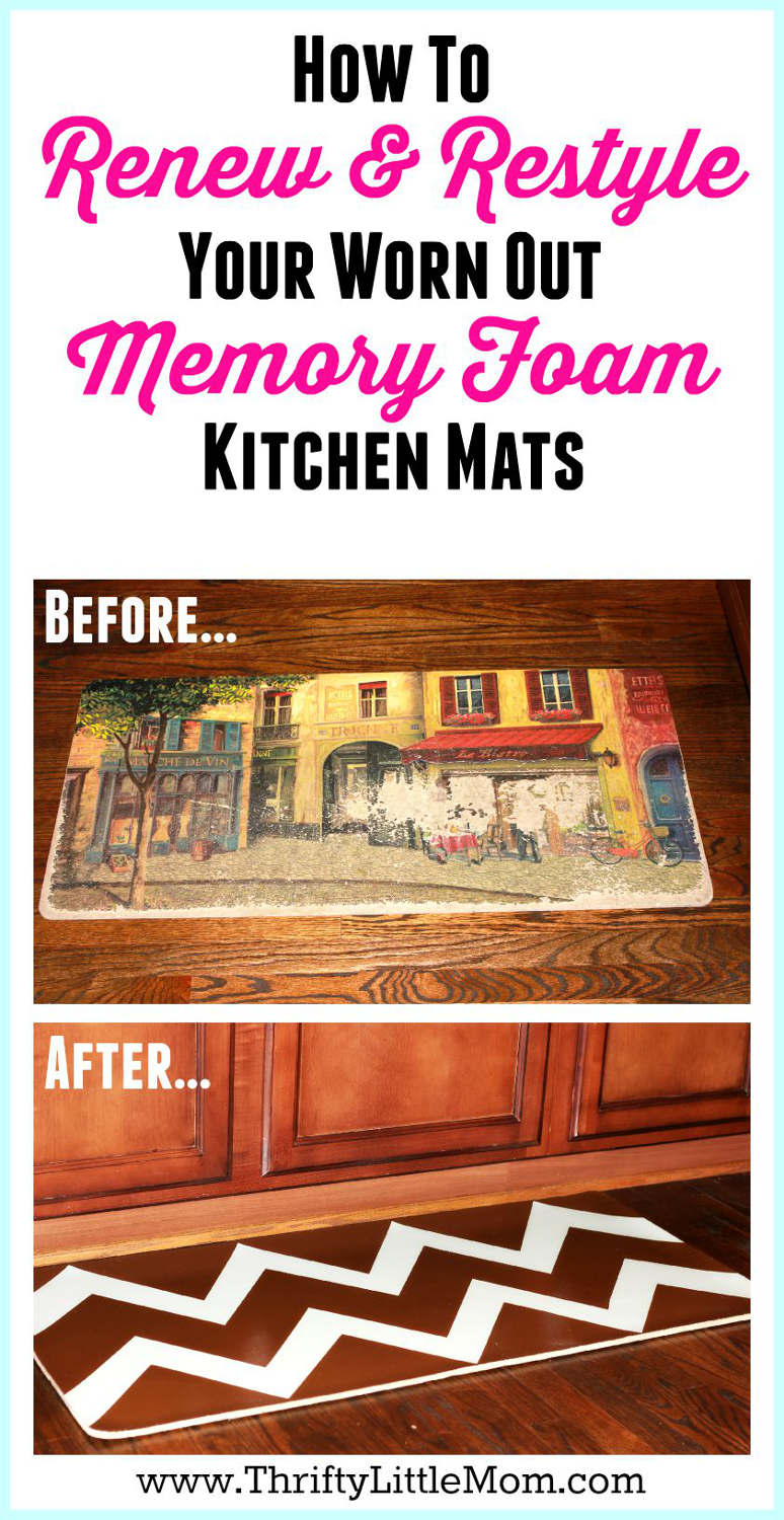 kitchen foam mats cart ikea renewing restyling worn memory thrifty little mom renew and restyle your mat