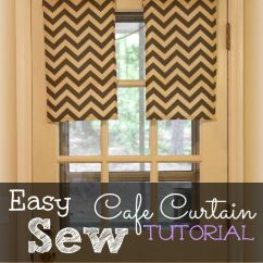 Kitchen Cafe Curtains Lowes Tiles Easy Sew Thrifty Little Mom Curtain Tutorial With Step By Directions