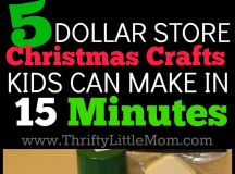 5 Dollar Store Christmas Crafts Kids Can Make in 15 ...