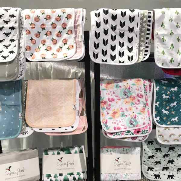 Copper Pearl Burp Cloths | 65 Top Baby Products for 2018 from the ABC Kids Expo
