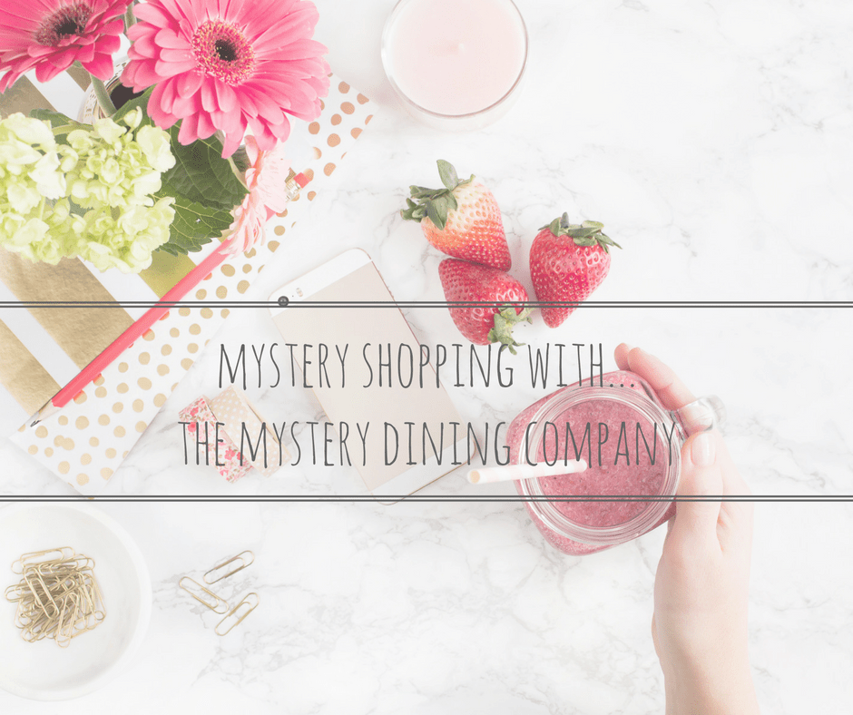 mystery shopping with the mystery dining company