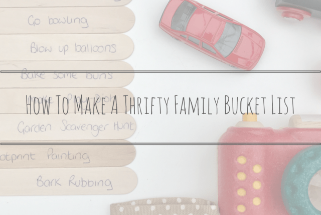 thrifty bucket list