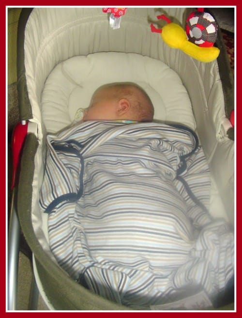 Napping in the Tiny Love Rocker Napper