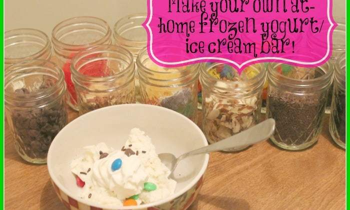 DIY ~ Frozen Yogurt/ Ice Cream Bar at Home
