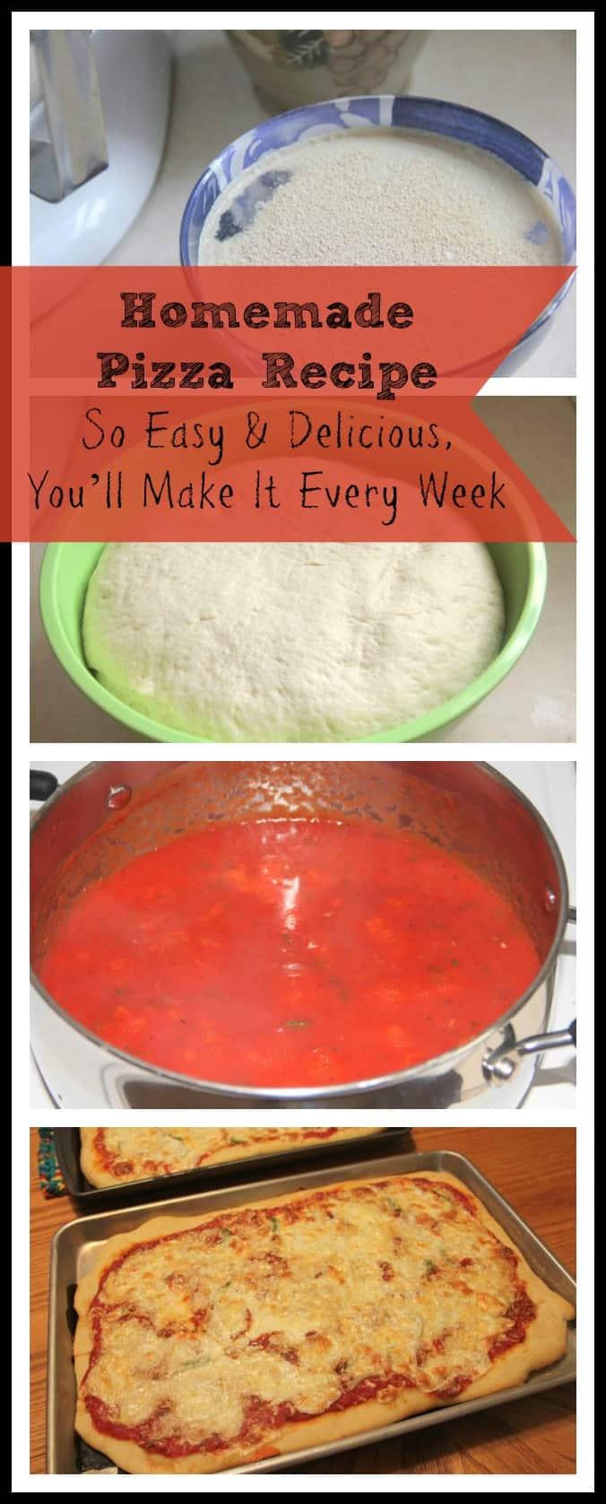 how to make homemade pizza recipe