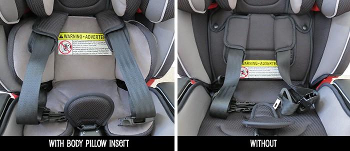 Graco-milestone-car-seat-review-body-pillow