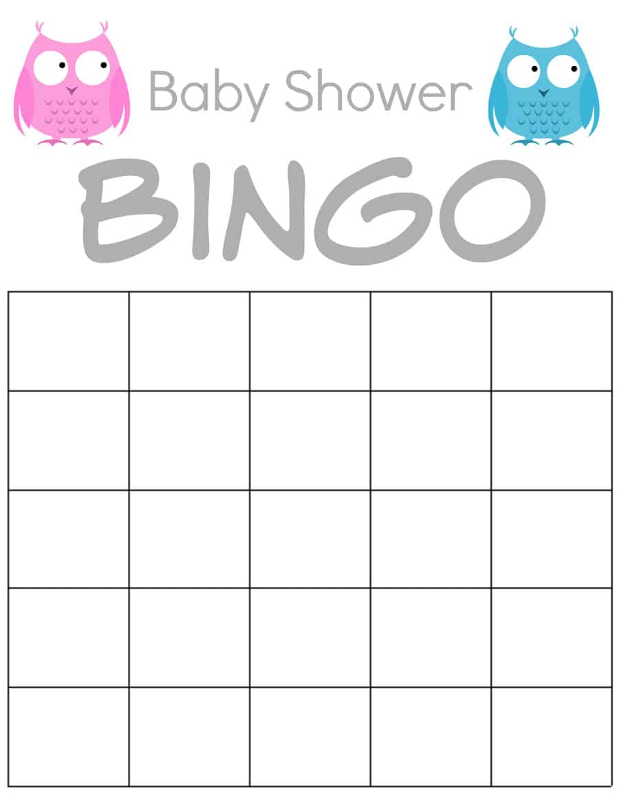 It is a photo of Geeky Baby Shower Bingo Printable