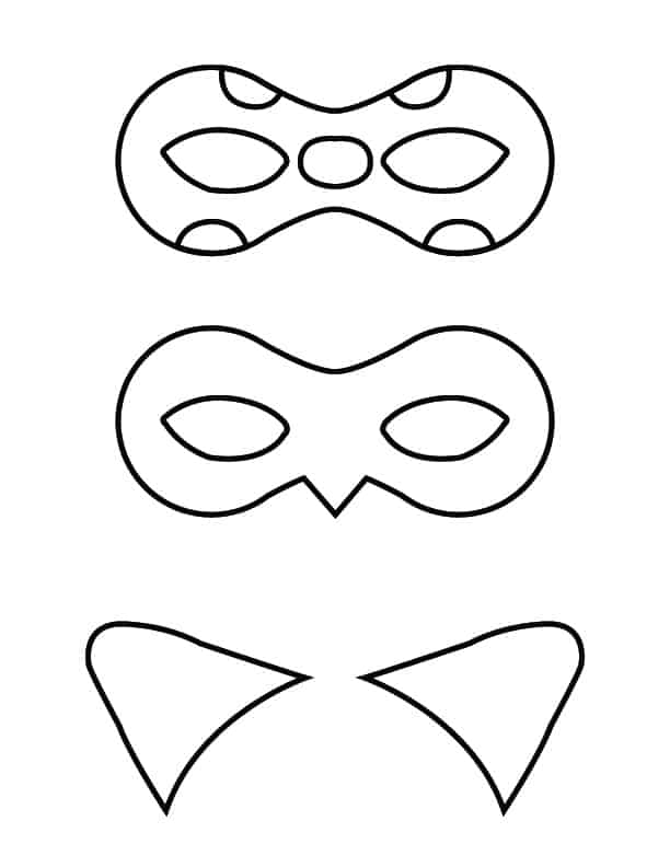 superhero mask coloring pages