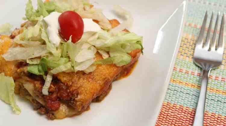 Taco Lasagna ~ The Taco With A Twist
