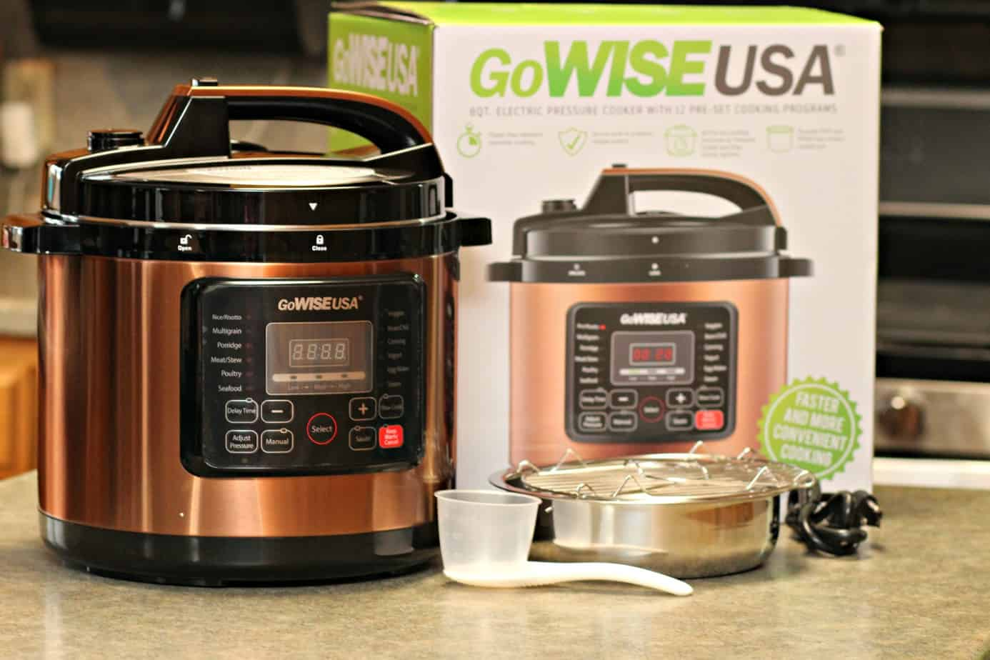 GoWise 8 Qt. Copper 12-in-1 Pressure Cooker {New Year, New You!}