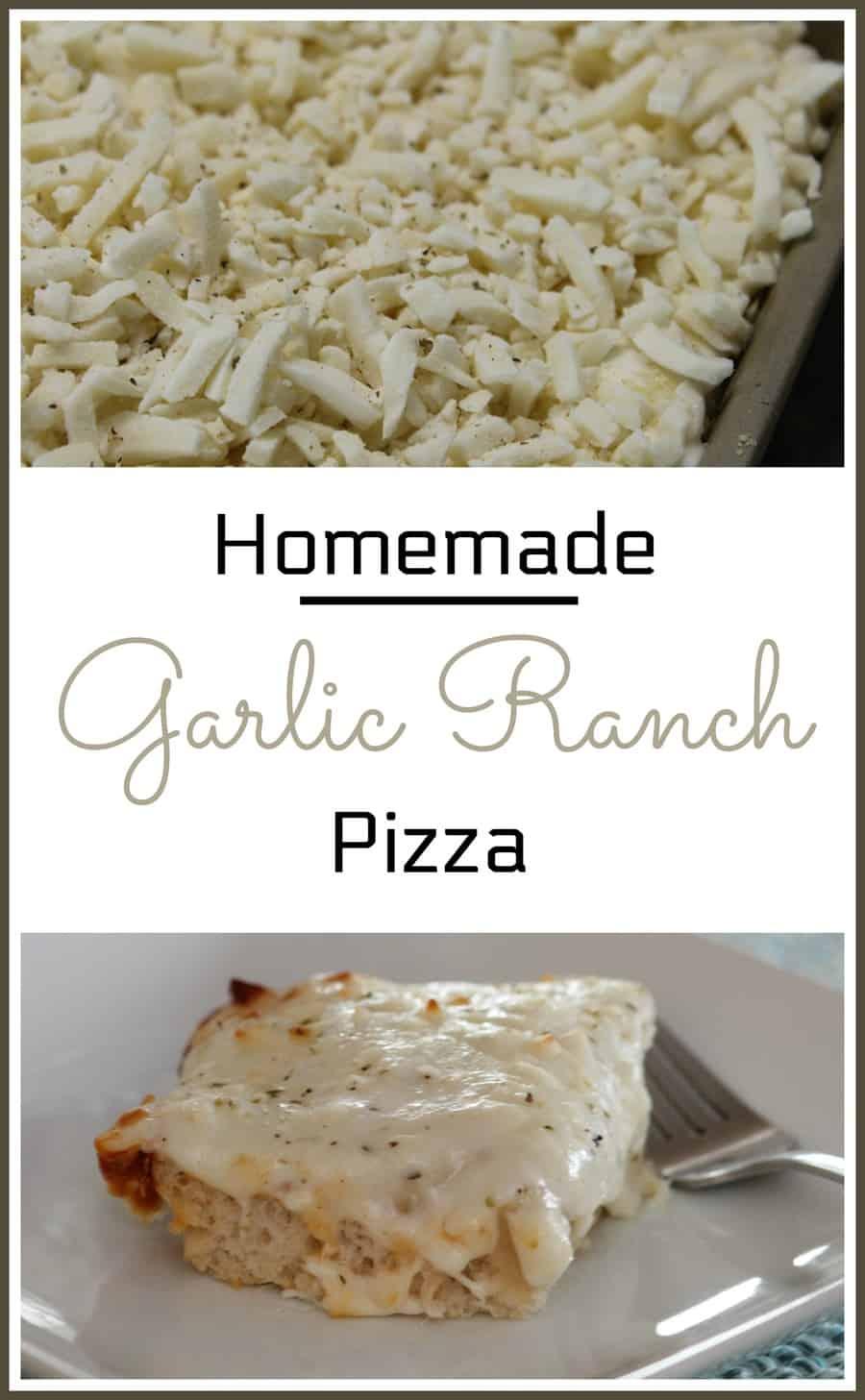 Homemade Garlic Ranch Pizza Recipe - Thrifty Nifty Mommy