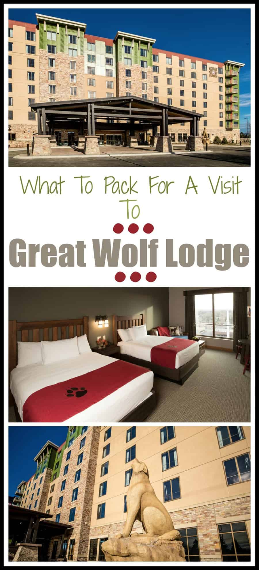 What To Pack When Visiting The Great Wolf Lodge