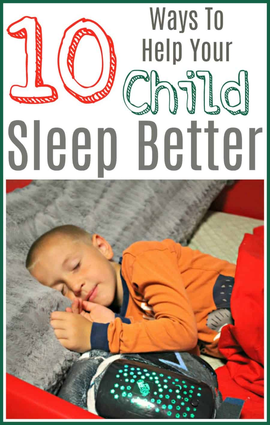 Ways To Get Your Toddler To Sleep Better