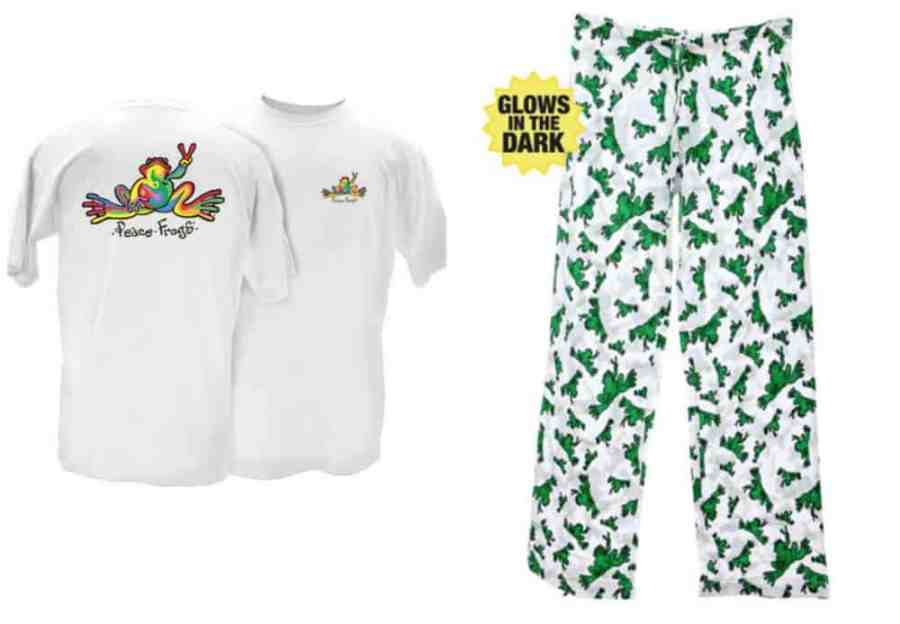 Peace Frogs Glow In The Dark Pajamas For Adults and Teens