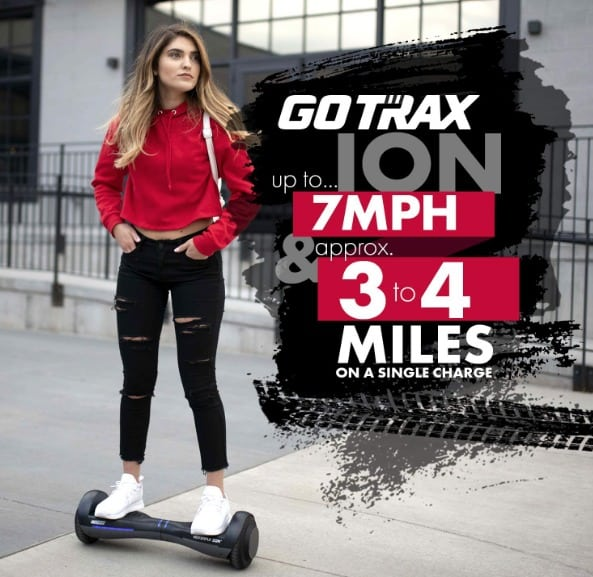 GOTRAX Hoverfly ION LED Hoverboard - UL Certified Hover Board wSelf Balancing Mode