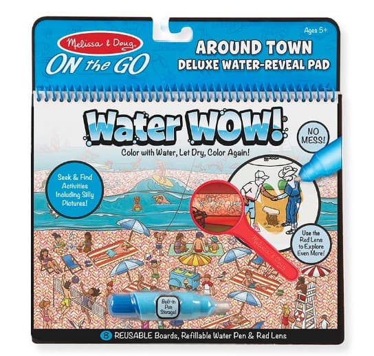 Melissa & Doug Water Wow! Around Town Deluxe Water-Reveal Pad - On the Go Travel Activity