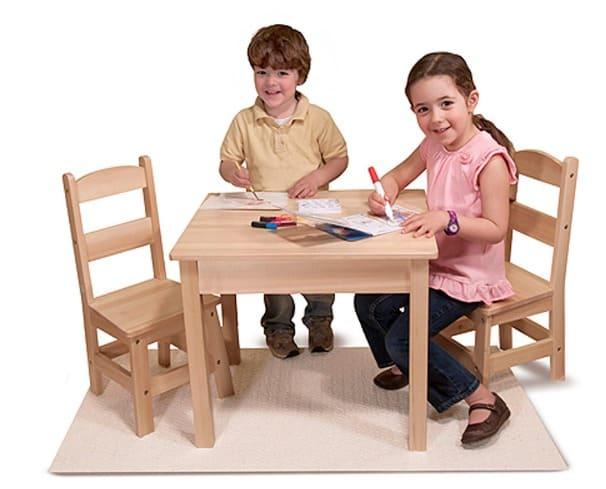 Melissa & Doug Wooden Table + Chairs Set