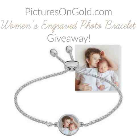 PicturesOnGold.com Women's Engraved Photo Bracelet Review & Giveaway