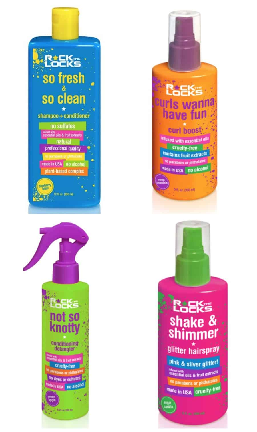 Rock The Locks Non-Toxic, Kid Friendly Hair Products