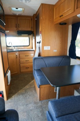Our Most Recent Rv Al Relocation Pictured Above Was A Compact That Sleeps 3 And Has Toilet Shower Small Kitchenette With Fridge