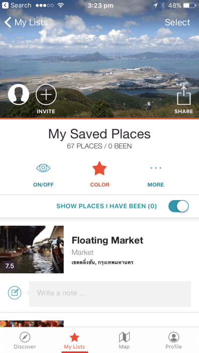 Saved Places