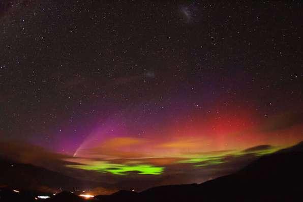 Aurora Australis Southern Lights Ushuaia Patagonia Argentina