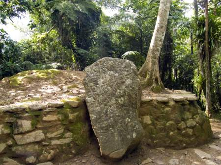 Ciudad Perdida Lost City rock map