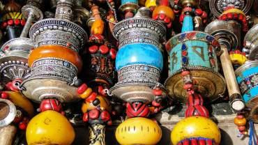 Prayer wheels in Lhasa