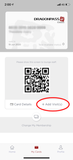 Getting access to a lounge is as simple as showing your digital membership card. But first, you'll need to pay for a visit on your account.