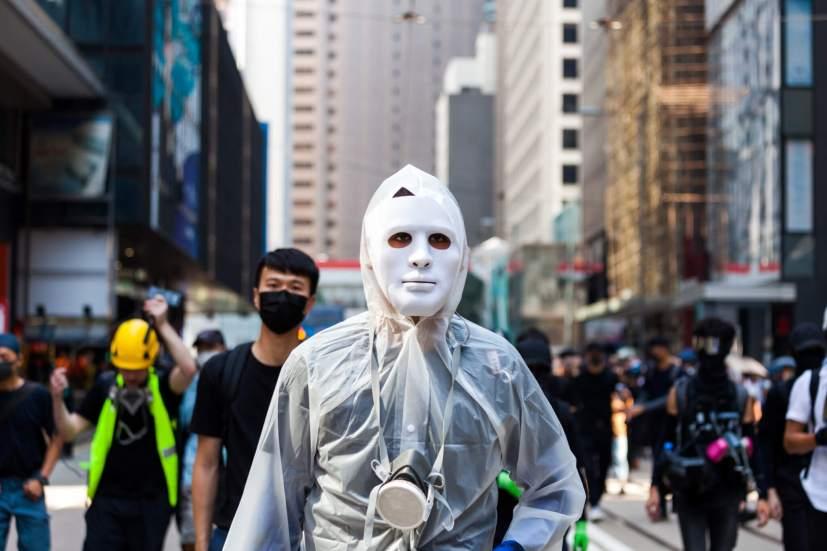 Hong Kong masked protestor