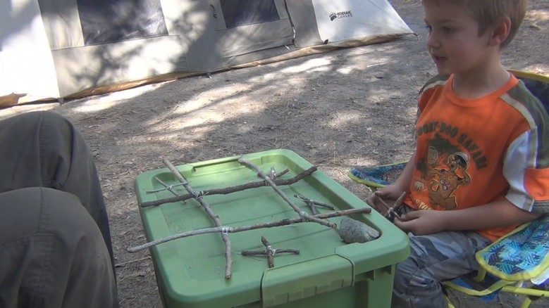 camping idea tic tac toe