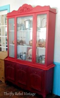 Kitchen China Cabinet Makeover - Thrifty Rebel Vintage