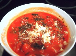 Tomato sauce with bas it, garlic etc..