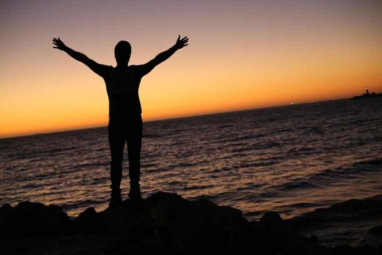 backlit beach christian dawn