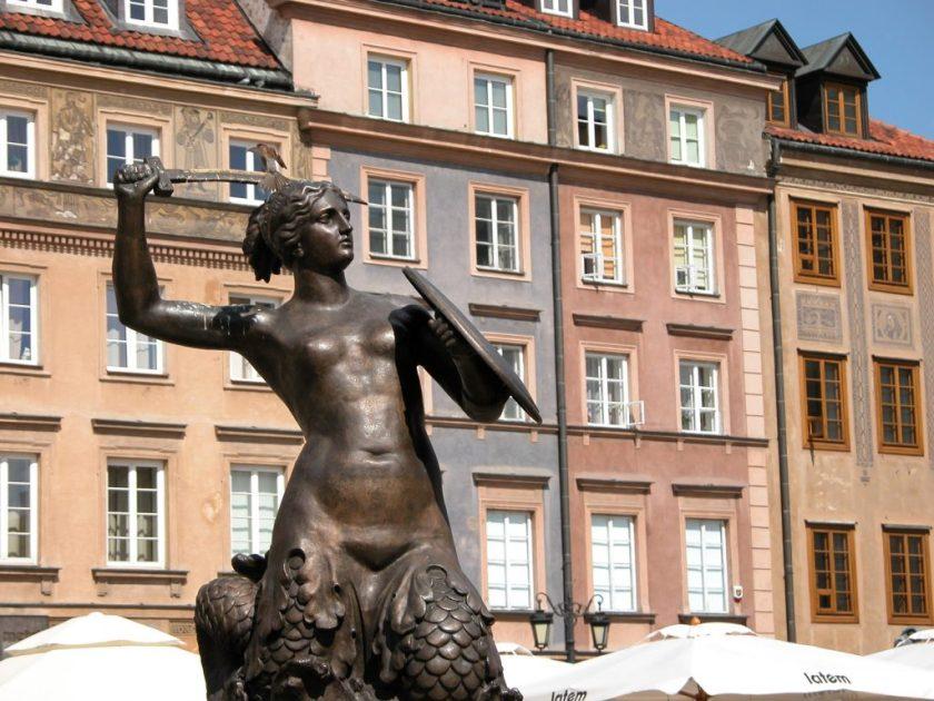 Krystyna Krahelska Mermaid Statue (Pomnik Syreny)
