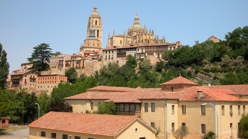 Segovia Cathedral in the Distance