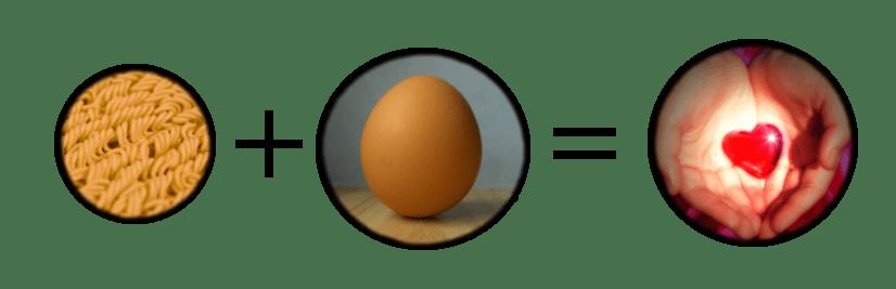Ramen + Egg = Love