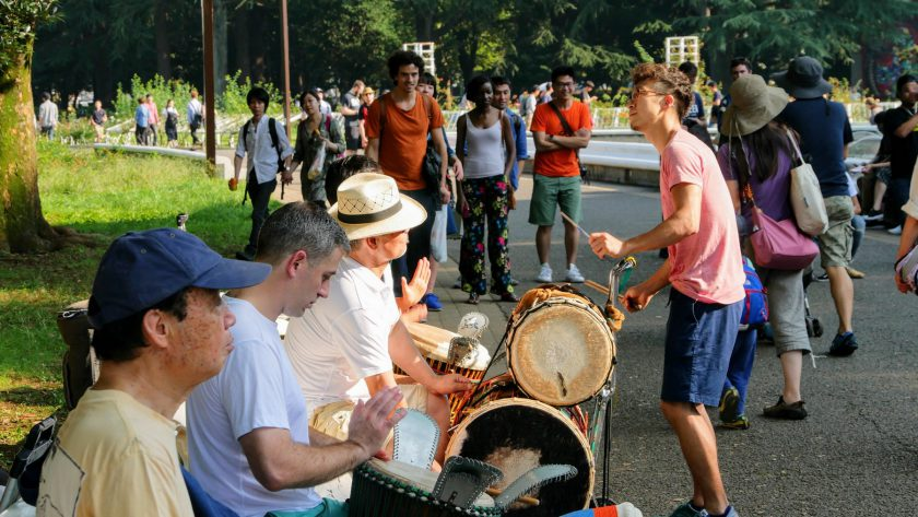 Yoyogi Park drum circle