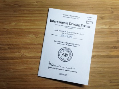 International drivers permit