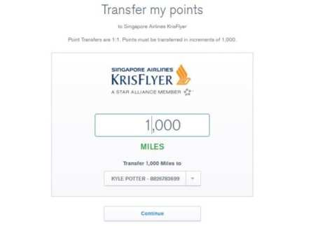 Transfer Chase Points