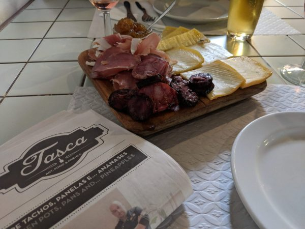 One of my favorite menus was from A Tasca. Printed in a newspaper format it listed all of it's offerings and provided a few stories about A Tasca and it's history (a fun read while you wait for your meal).