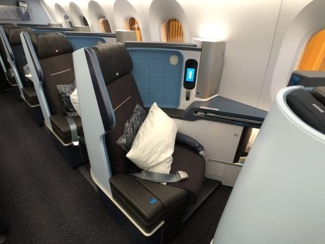 klm business class seat