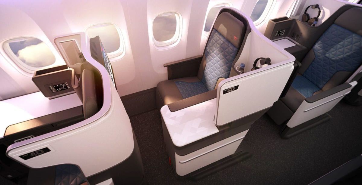 First Glimpse At Delta S New 767 Business Class Seat Flying To London This Fall