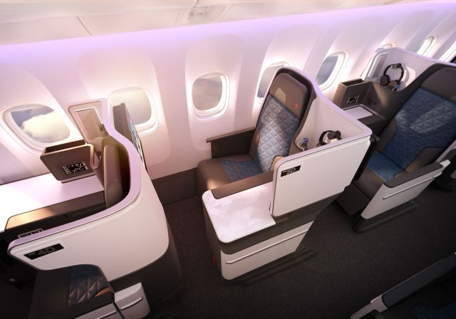 Delta New 767 Business Class