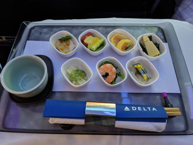 Delta One suites review meal