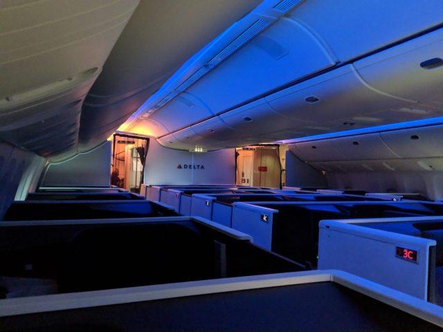 Delta One Suites review cabin