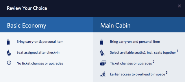 Delta Basic Economy Pick Seat